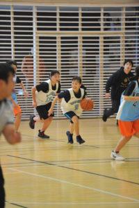 葛北地区中学校バスケットボール1年生大会にて