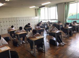 第2回定期考査 最終日(中学校)3日目(高校)